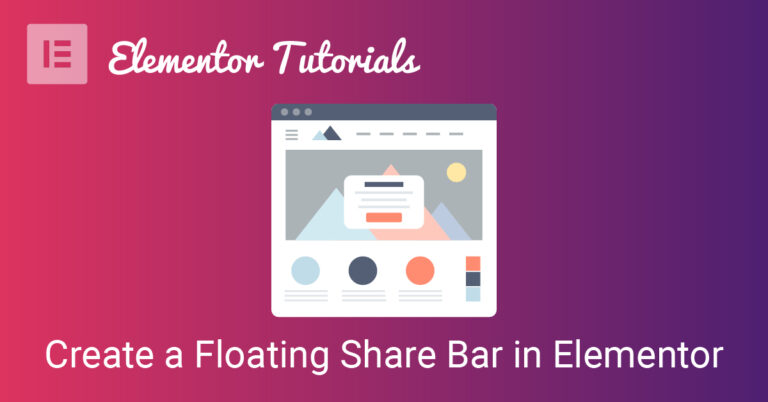 How to create a sticky social share bar in elementor