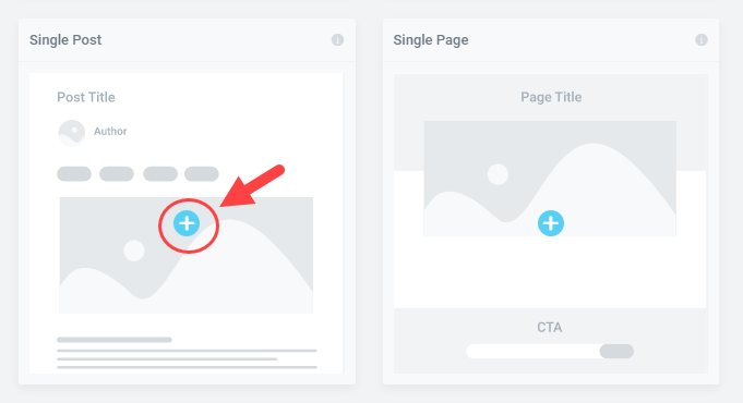 add a single post template in the theme builder