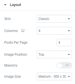 customize the layout of your posts widget