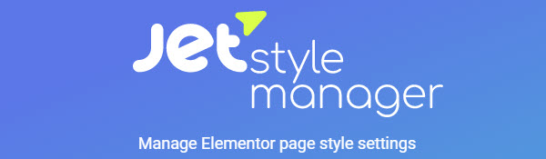 Jet style manager by Crockoblock- manage your Elementor style settings and speed up your site