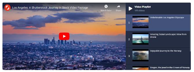 create video playlists with Jet Blog